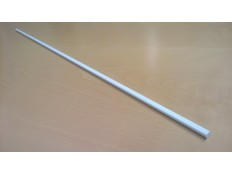 Exel white glassfiber rod, profie 142E, diameters 8 x 10 mm, 6 m, min 10 pcs